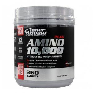 Amino 10.000 es una eficiente fuente de proteína de la más alta calidad, hecha a partir de una equilibrada combinación de aislado de proteína de suero, concentrado de proteína de suero, y aminoácidos.